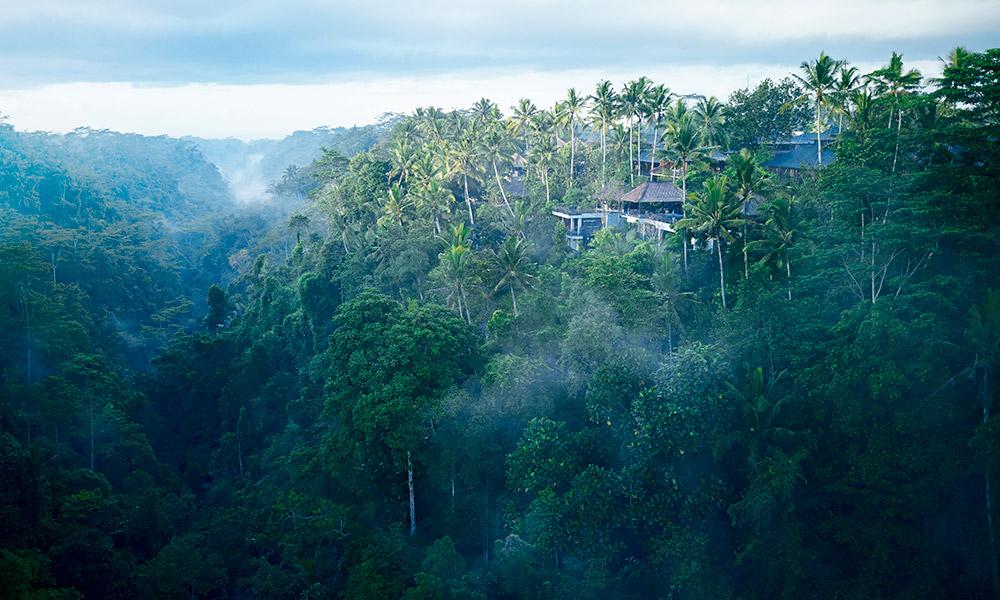 An exterior view of Hoshinoya Bali. Credit: Hoshinoya Bali