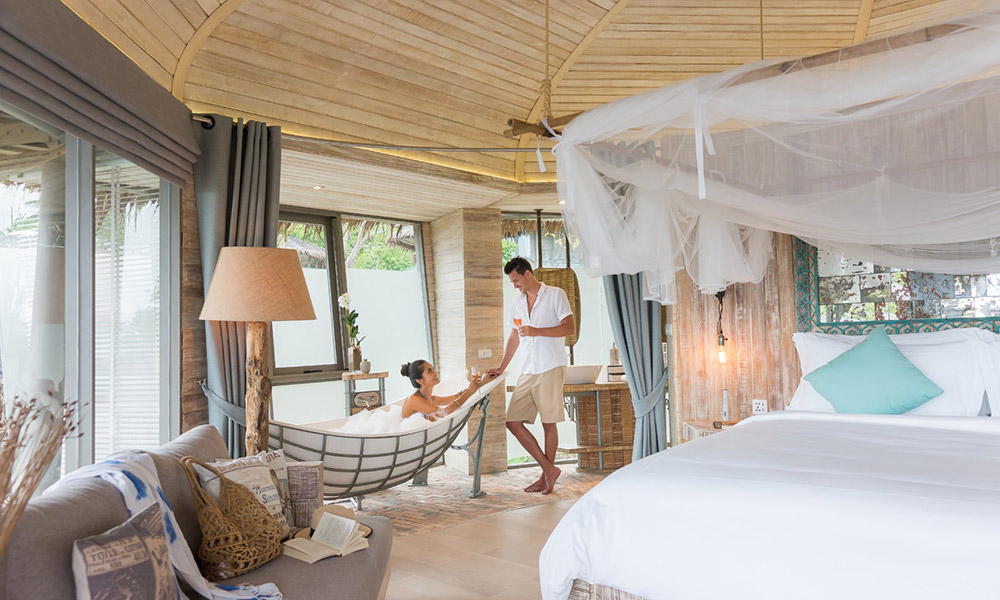 Inside one of the treehouses. Credit: TreeHouse Villas