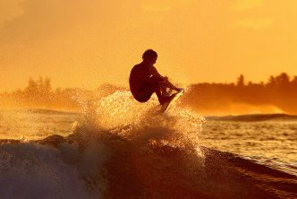 Surfing in the Maldives. Supplied.