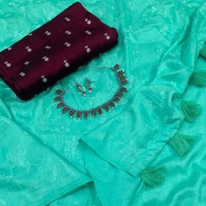 Cotton Crape – Self Jacquard Cotton Crape Saree Catalogues