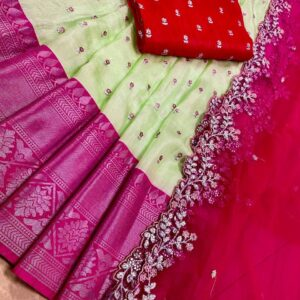 178 – Pure Jute Silk Sarees with Blouse