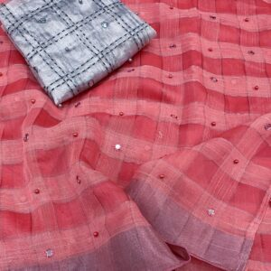 Linen Lady – Pure Linen Saree