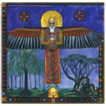 Figure 1. Philemon Fantasy-Figure. (The Red Book: Liber Novus, C.G. Jung.