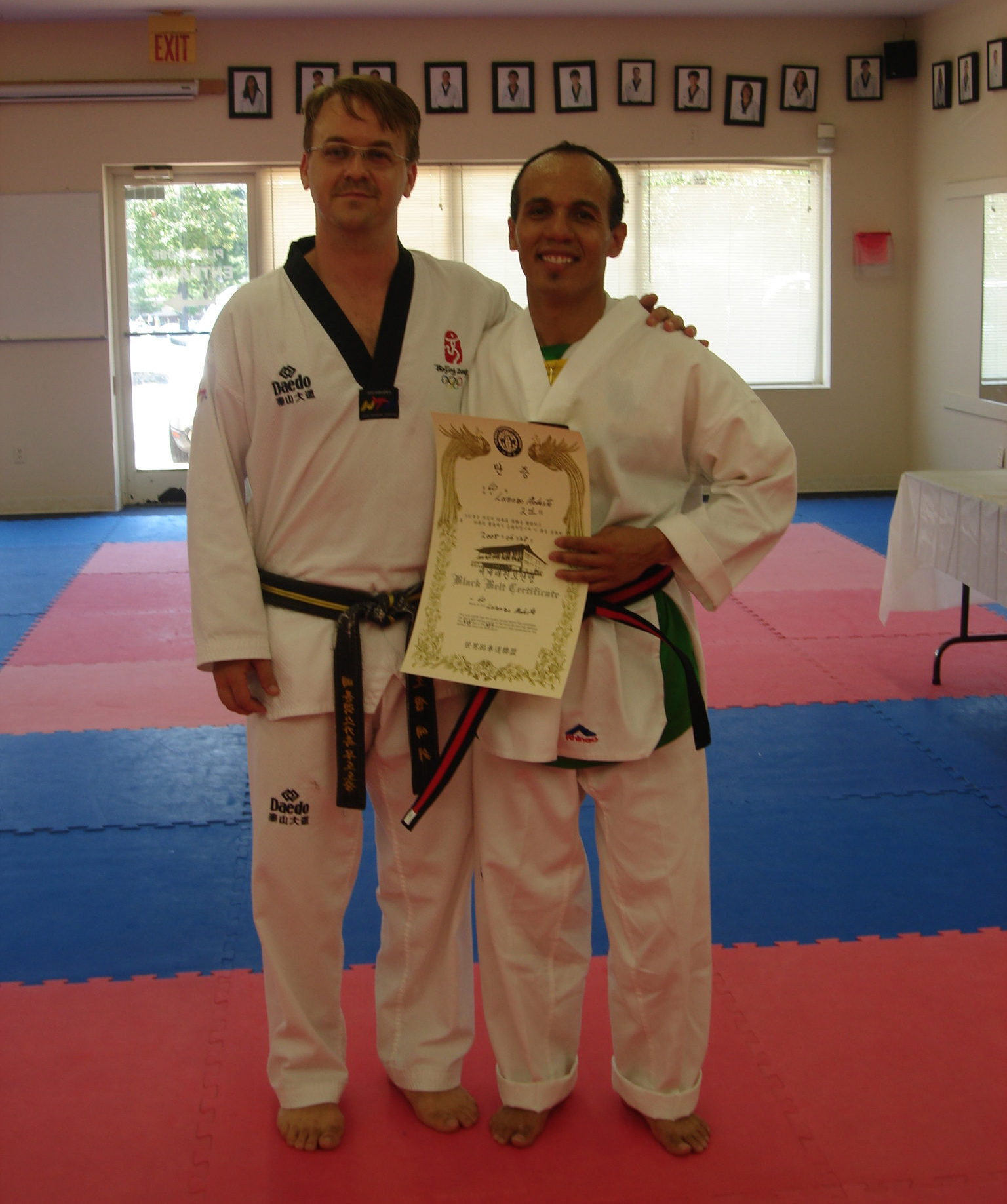 Dr Lorenzo black belt
