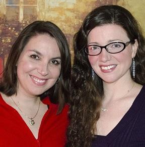 Website author Julie B Campbell and Amanda Giasson photo