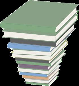 YA book club stack of novels
