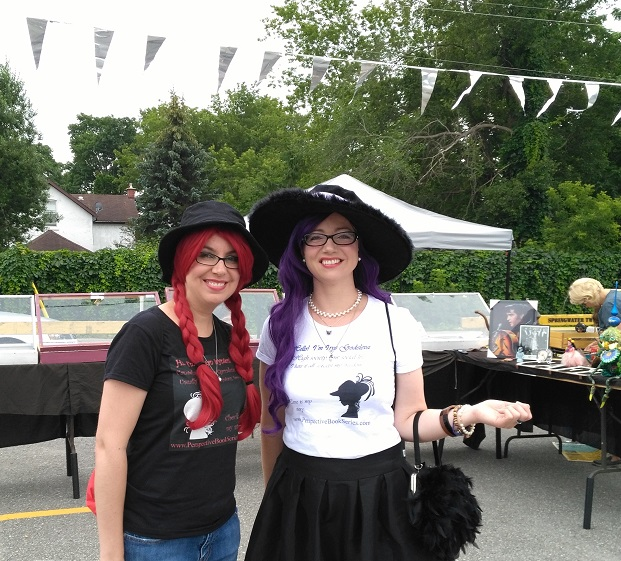 Perspective series authors Amanda Giasson & Julie B. Campbell cosplaying at Elmvale Sci-Fi Fantasy Street Party 2017