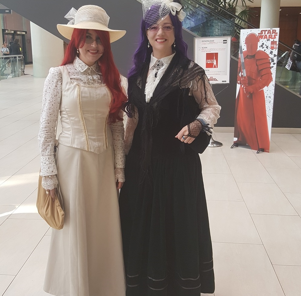 Perspective book series authors Amanda Giasson and Julie B Campbell cosplaying Megan Wynters and Irys Godeleva