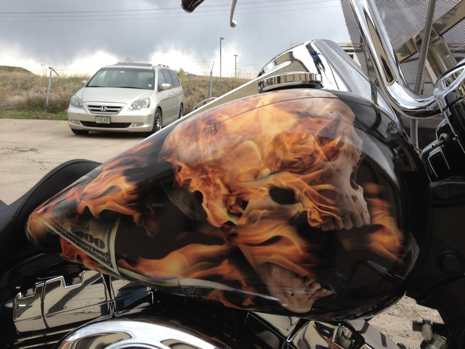 flame motorcycle wrap tank