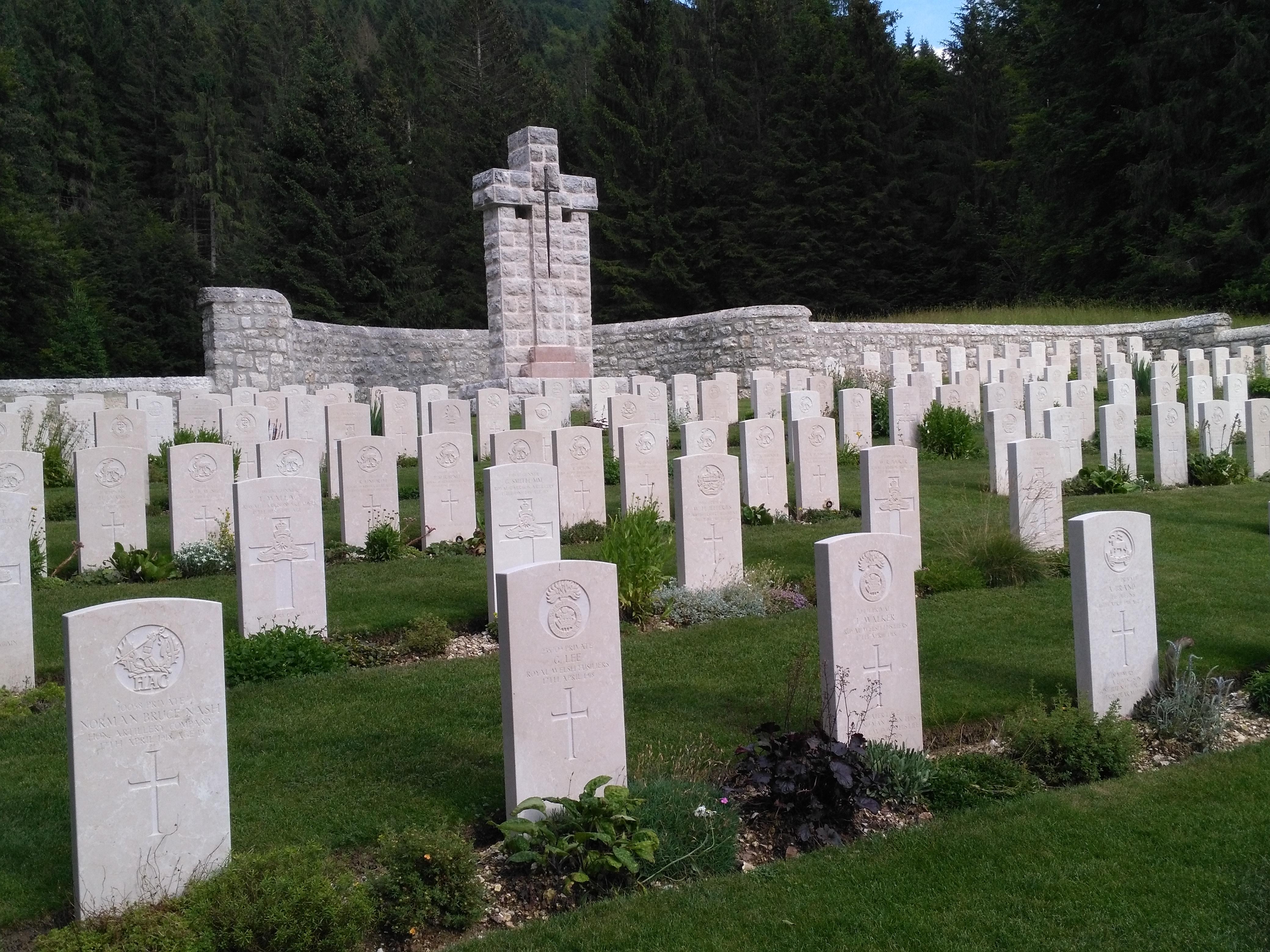italiainpiega-evento-la grande guerra 2018-cimitero inglese cesuna