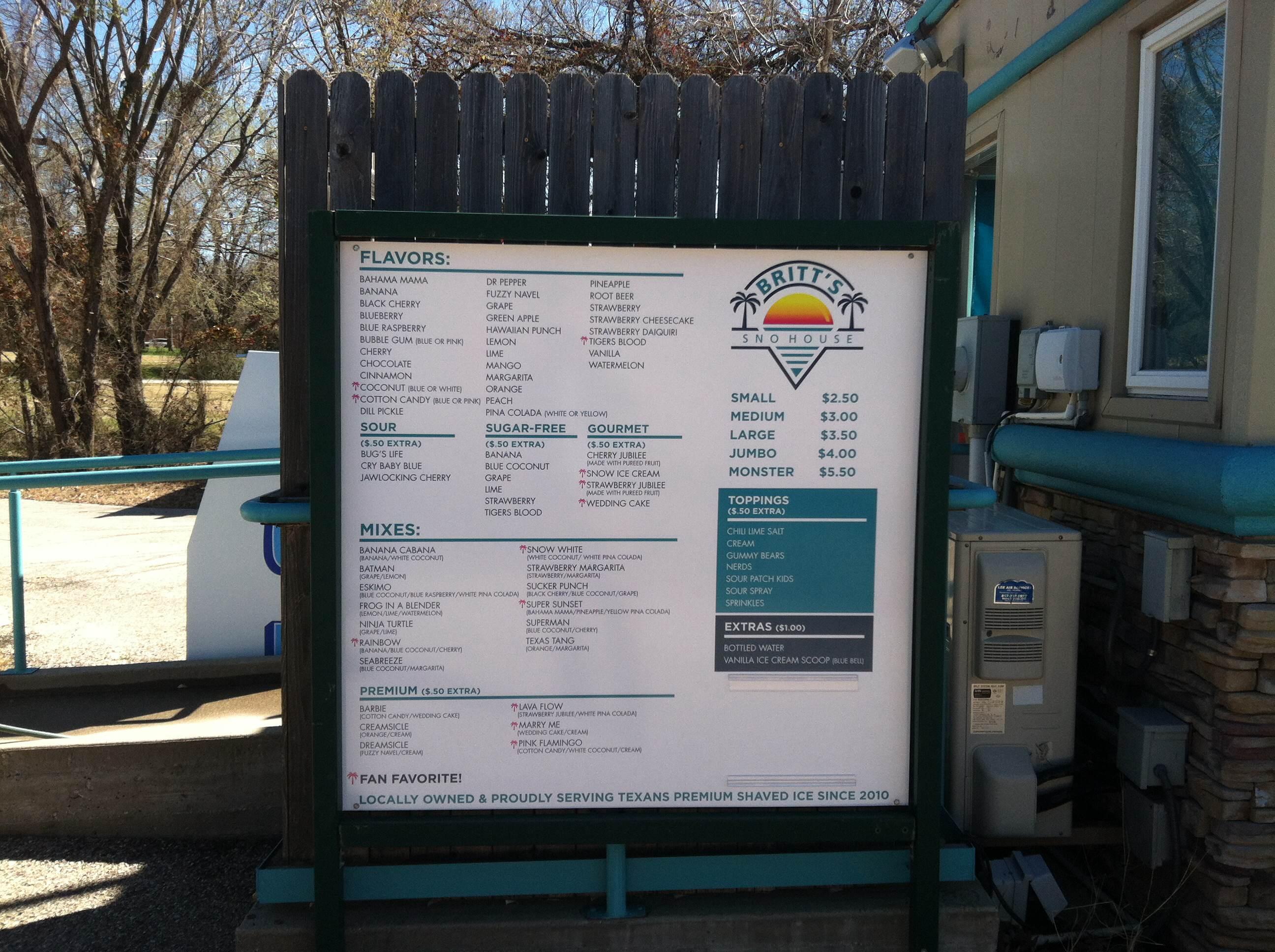 Menu Board in Colleyville TX