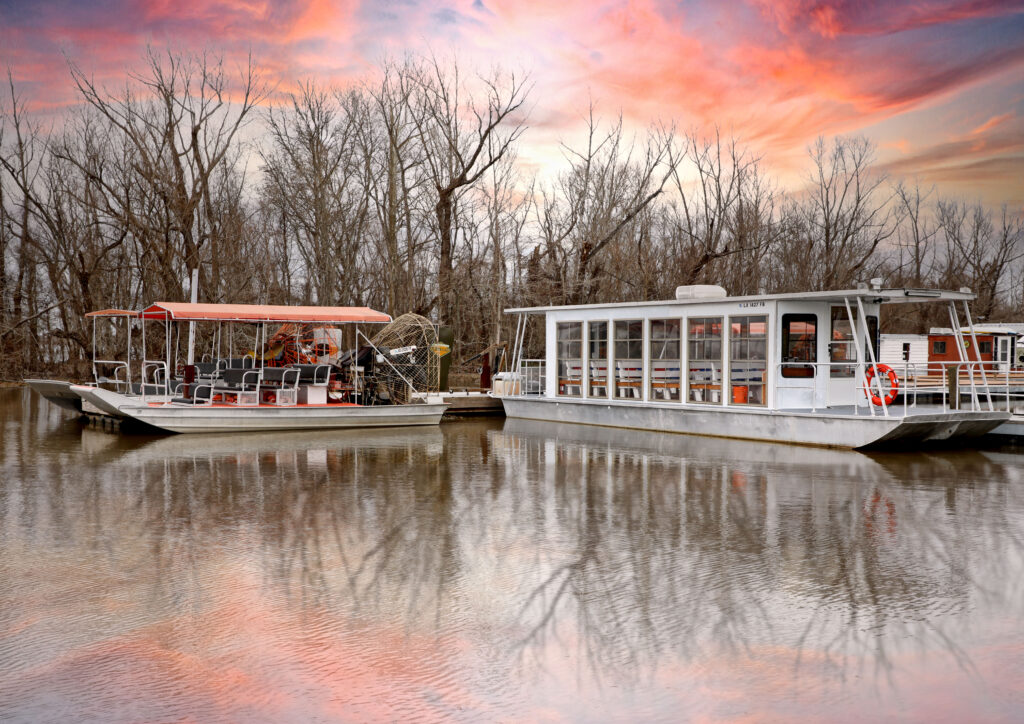 Traditional Enclosed Boat Swamp Tours