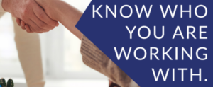 Know Who You Work With