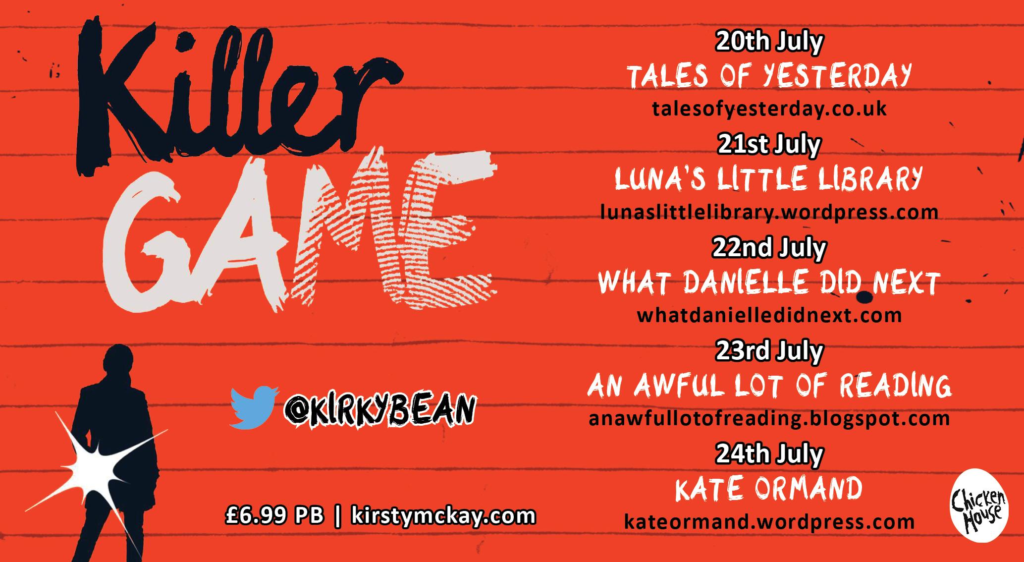 Killer Game blog tour
