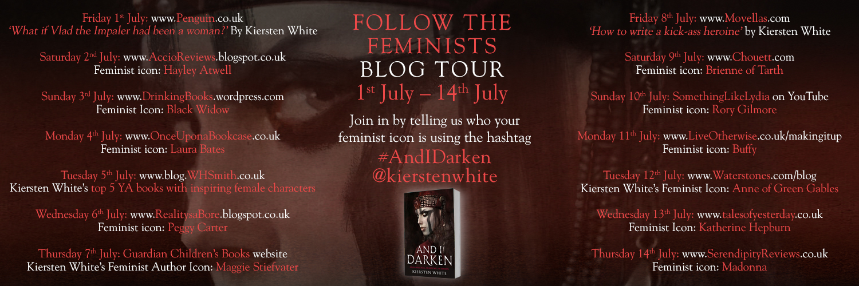 Follow the Feminists blog tour banner