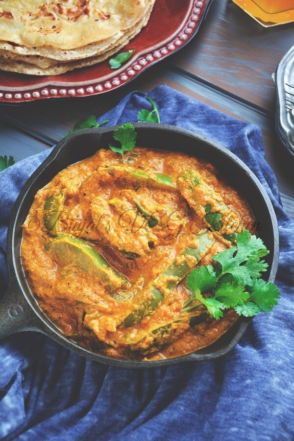 Capsicum Masala Curry Photography