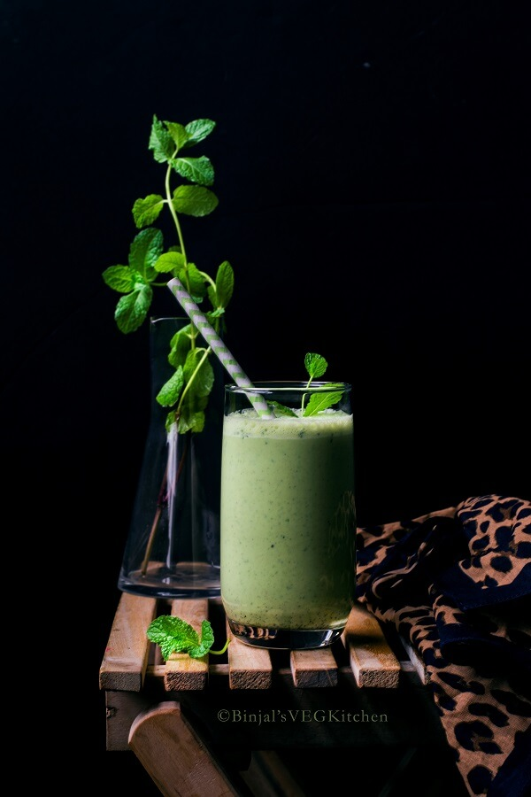 Salted Cucumber Mint Lassi Photography