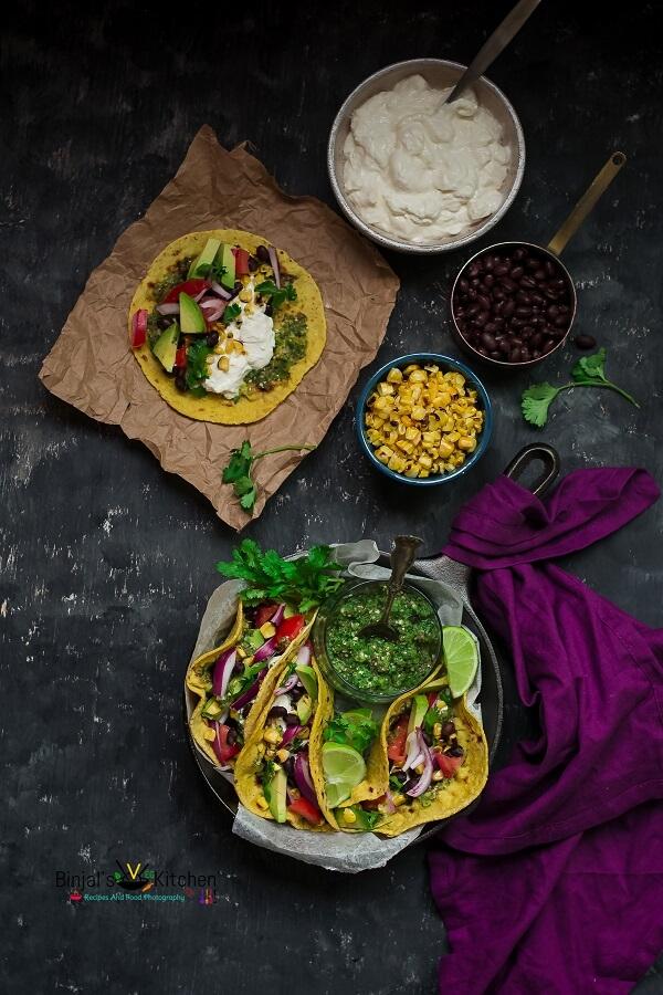 Roasted Corn and Tomatillos Salsa Tacos