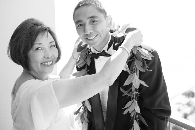 Hawaii beach wedding look