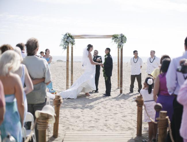 Ventura beach wedding day