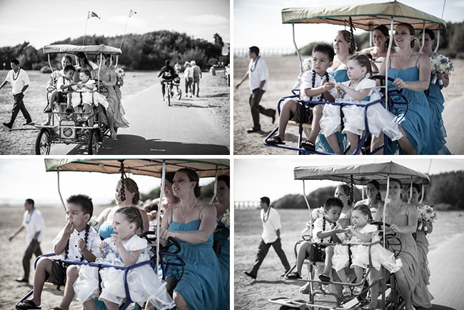 beach wedding ideas bike