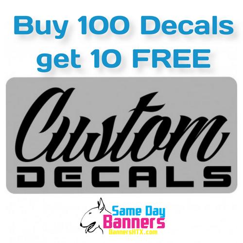 custom decal sale