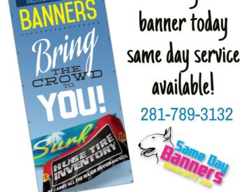 Indoor outdoor banners