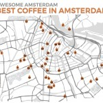 A useful map for the best coffee places in Amsterdam. Click for the free printable PDF complete with addresses and information.