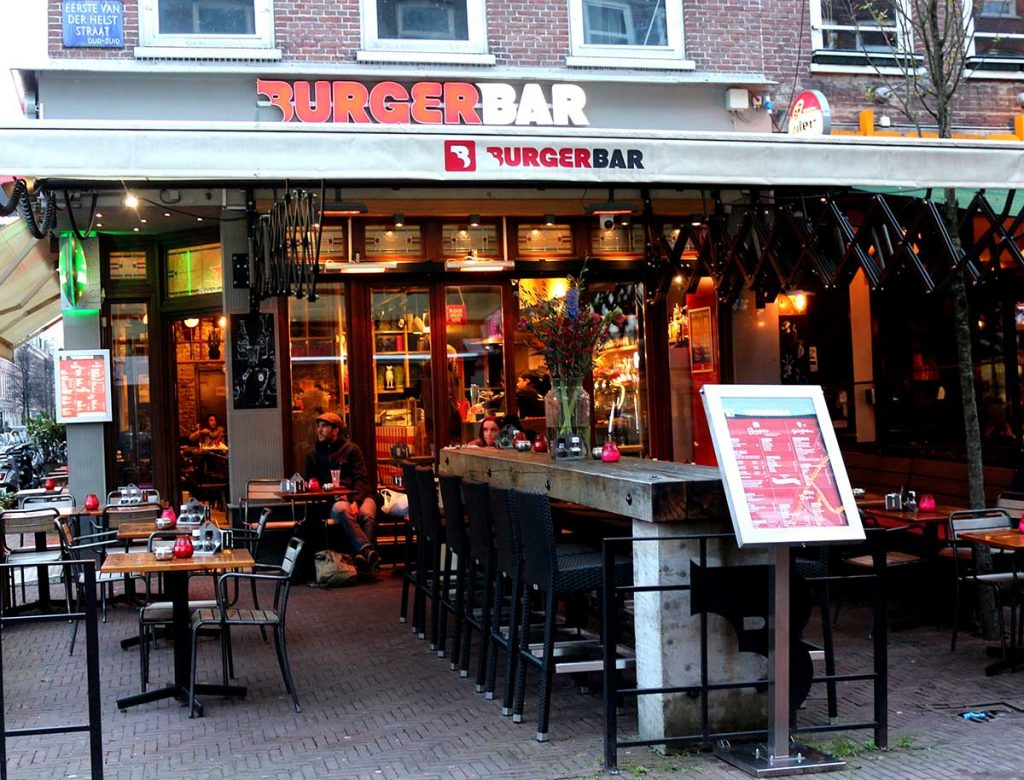 Burger Bar serves up tasty hamburgers that you build yourself from their list of topping options. BEST BURGERS IN AMSTERDAM