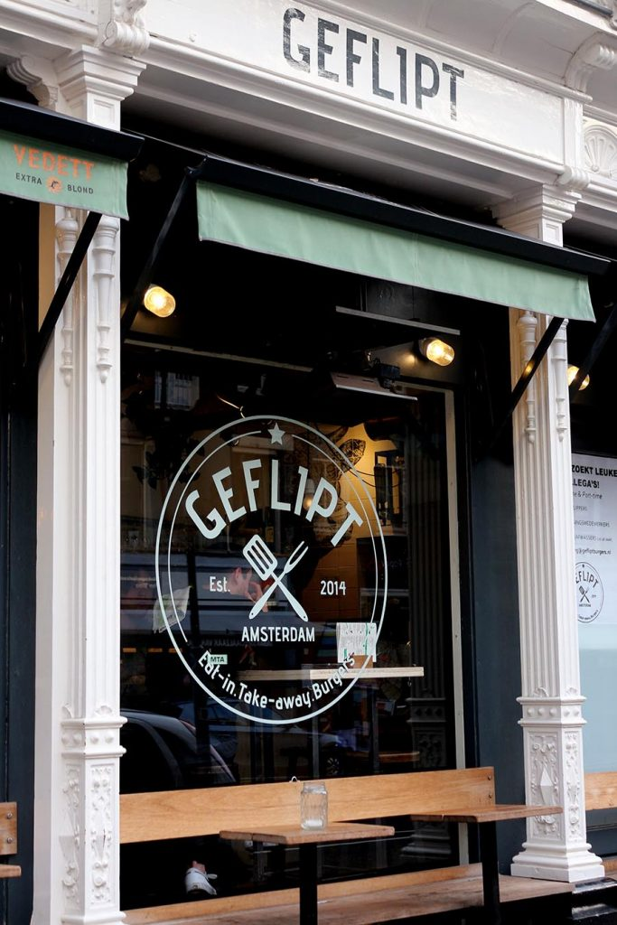 Geflipt offers creative tasty burgers at their two warm and cozy locations. BEST BURGERS IN AMSTERDAM