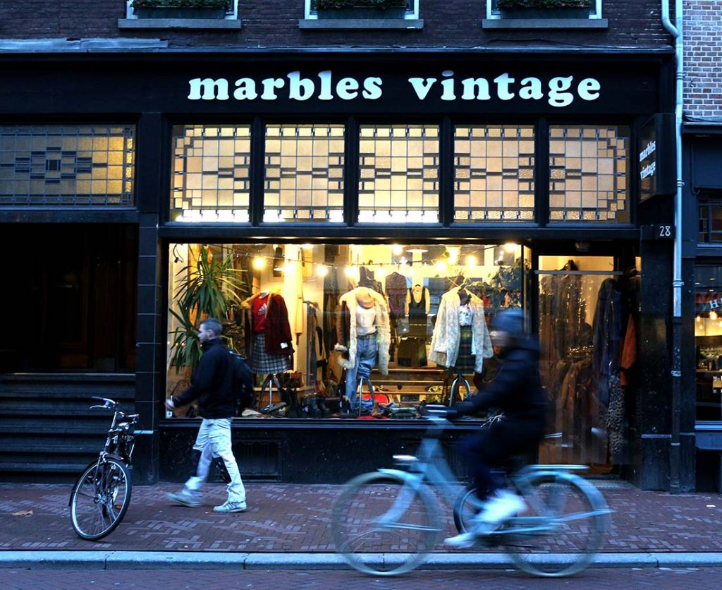 BEST VINTAGE CLOTHING SHOPPING IN AMSTERDAM - marbles vintage pijp