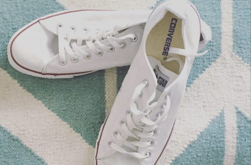 clean white shoes