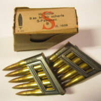 10 rounds of 8x56R ammo in two Waffen proofed stripper clips