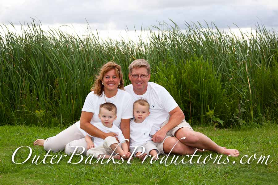 Classic white family portrait