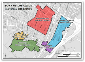Town of Los Gatos Historic Districts Map
