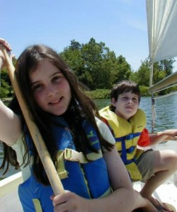 Kids sailing at Vasona