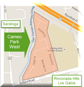 Cameo Park West neighborhood in Campbell / Los Gatos