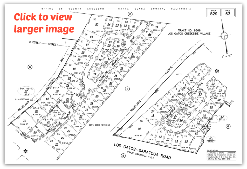 Creekside Village Plat Map - click to view larger image