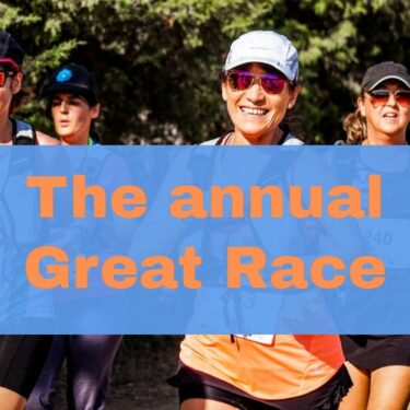 Photo of runners - The Great Race in Los Gatos - annual run from Saratoga to Los Gatos