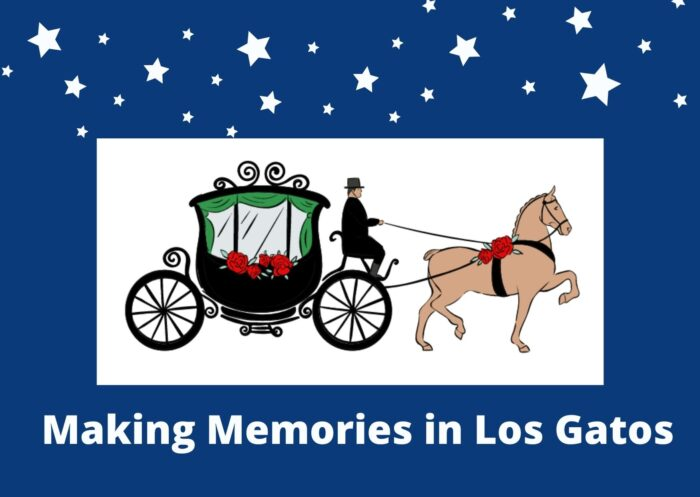 Los Gatos carriage ride graphic with night sky - making memories