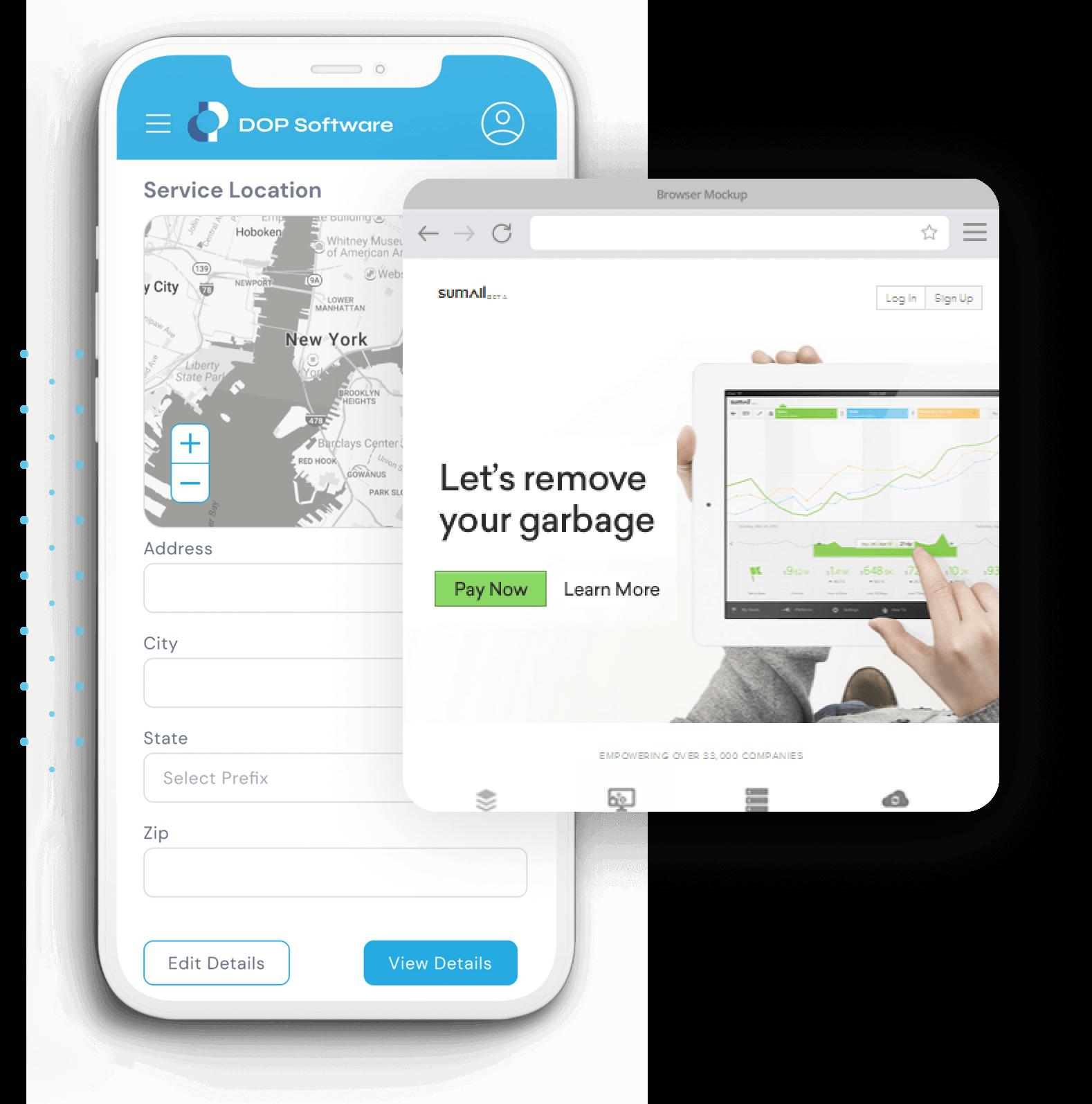 Mobile/web development image