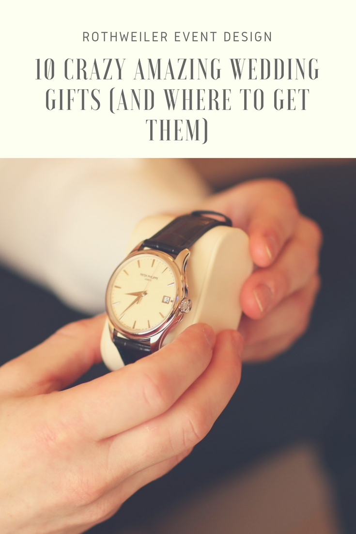 Check out these 10 crazy amazing wedding gifts and where to get them in our blog right now! Perfect ideas for brides and grooms looking for a unique way to surprise each other, their wedding party and their parents.