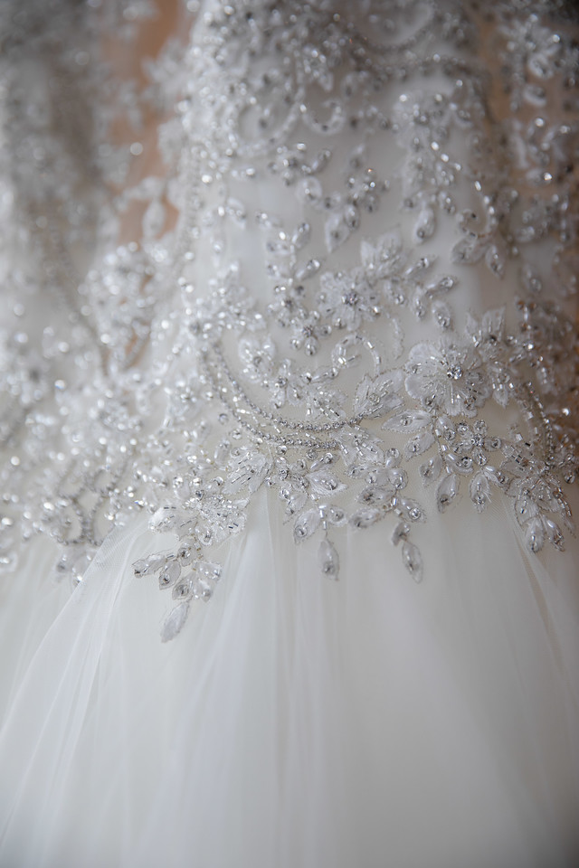 2018 wedding trends including beaded gowns for newly engaged brides!