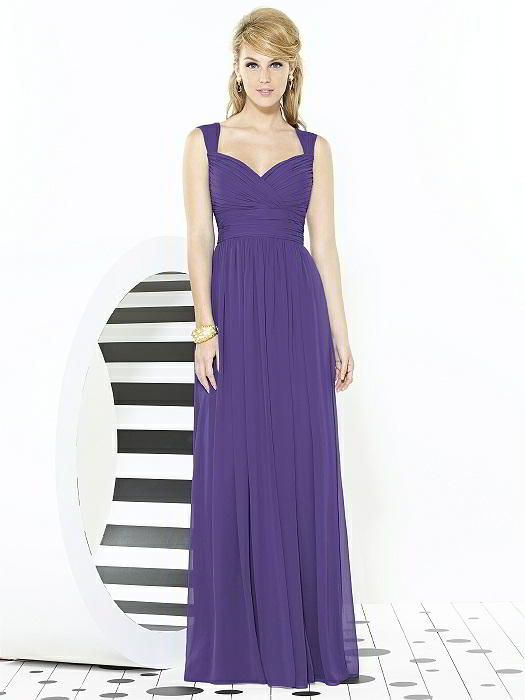"""Romantic and chic ways to for your bridesmaids to wear Pantone's Color of the Year, plus 15% off and free shipping on amazing dresses from Dessy! Check out the blog for this amazing deal and other ways to use """"ultra-violet"""" in your wedding decor!"""