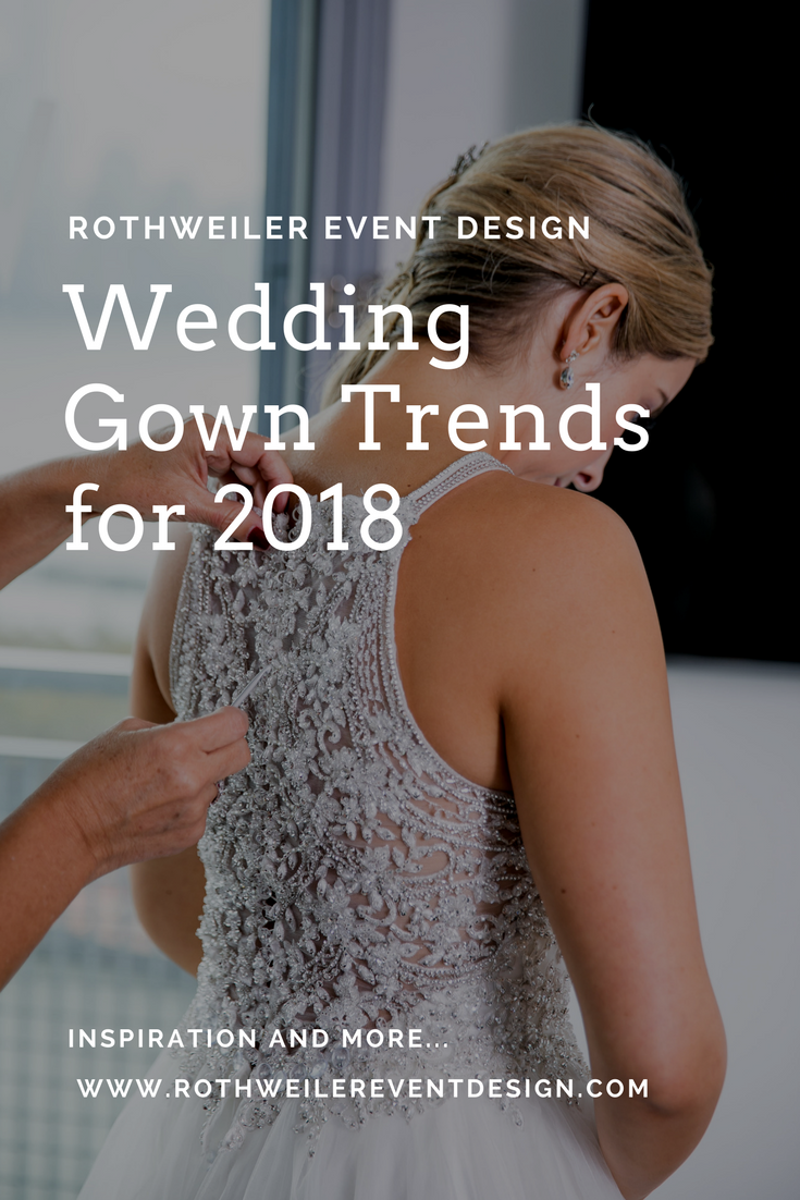 Find out what's trending in the world of wedding gowns for 2018 and which designers every bride is asking about!