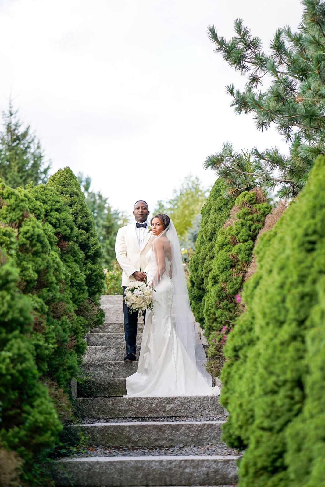A breathtaking garden wedding at Grounds for Sculpture that we planned for this New York City couple. Read the blog to get the wedding day details and see the chic photos from this celebration!