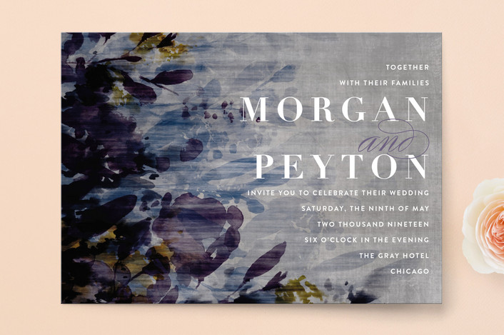 We love this invitation suite for a modern garden wedding. The deep colors look like a gorgeous floral painting and it's perfect for a romantic garden wedding. Find this invitation and more garden wedding inspiration on our blog, plus venues you need to see for your wedding day!