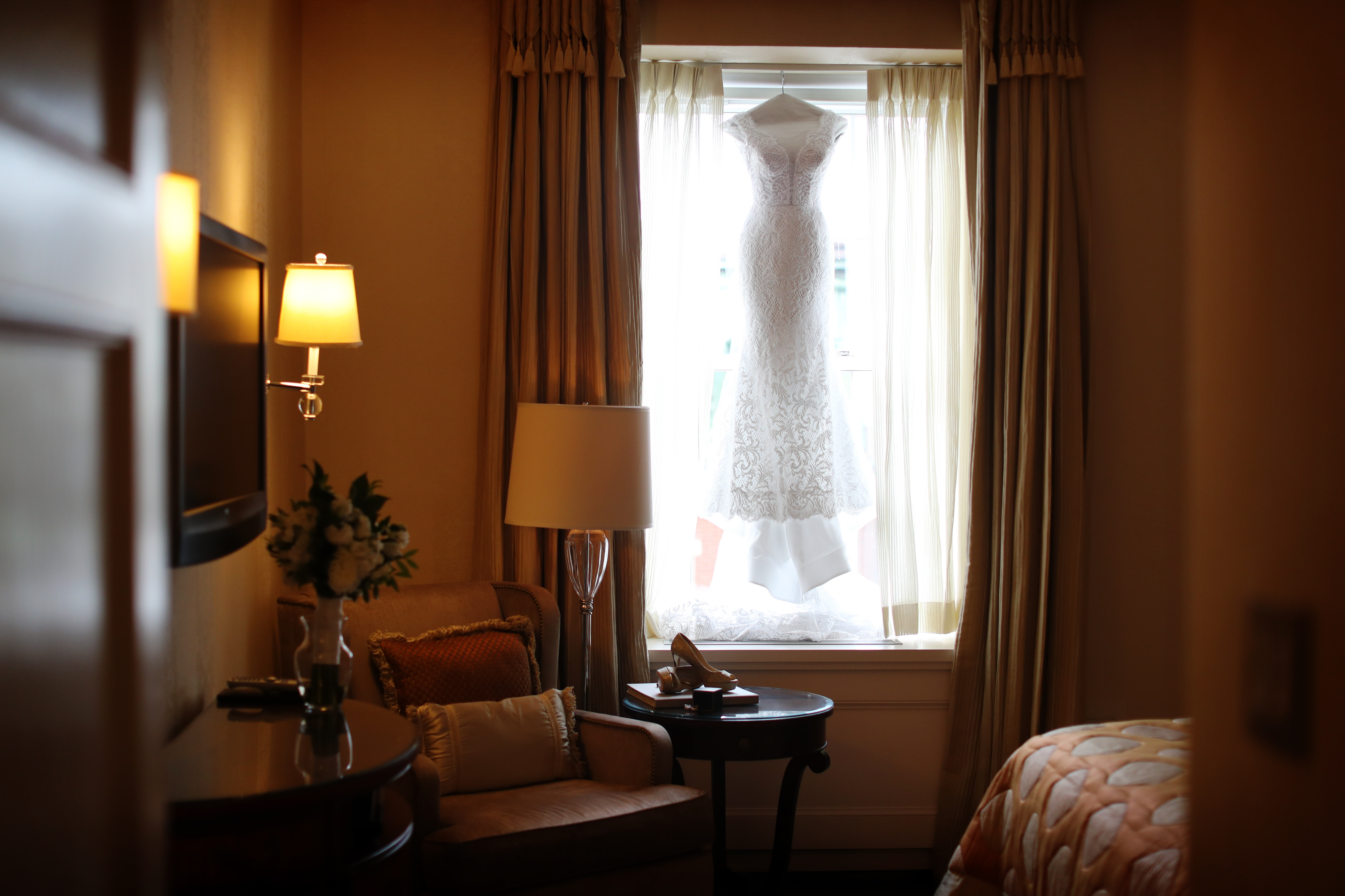 Our NYC based bride and groom got ready for their wedding at the beautiful Pierre Hotel next to Central Park. Read the blog for all the day of wedding details!