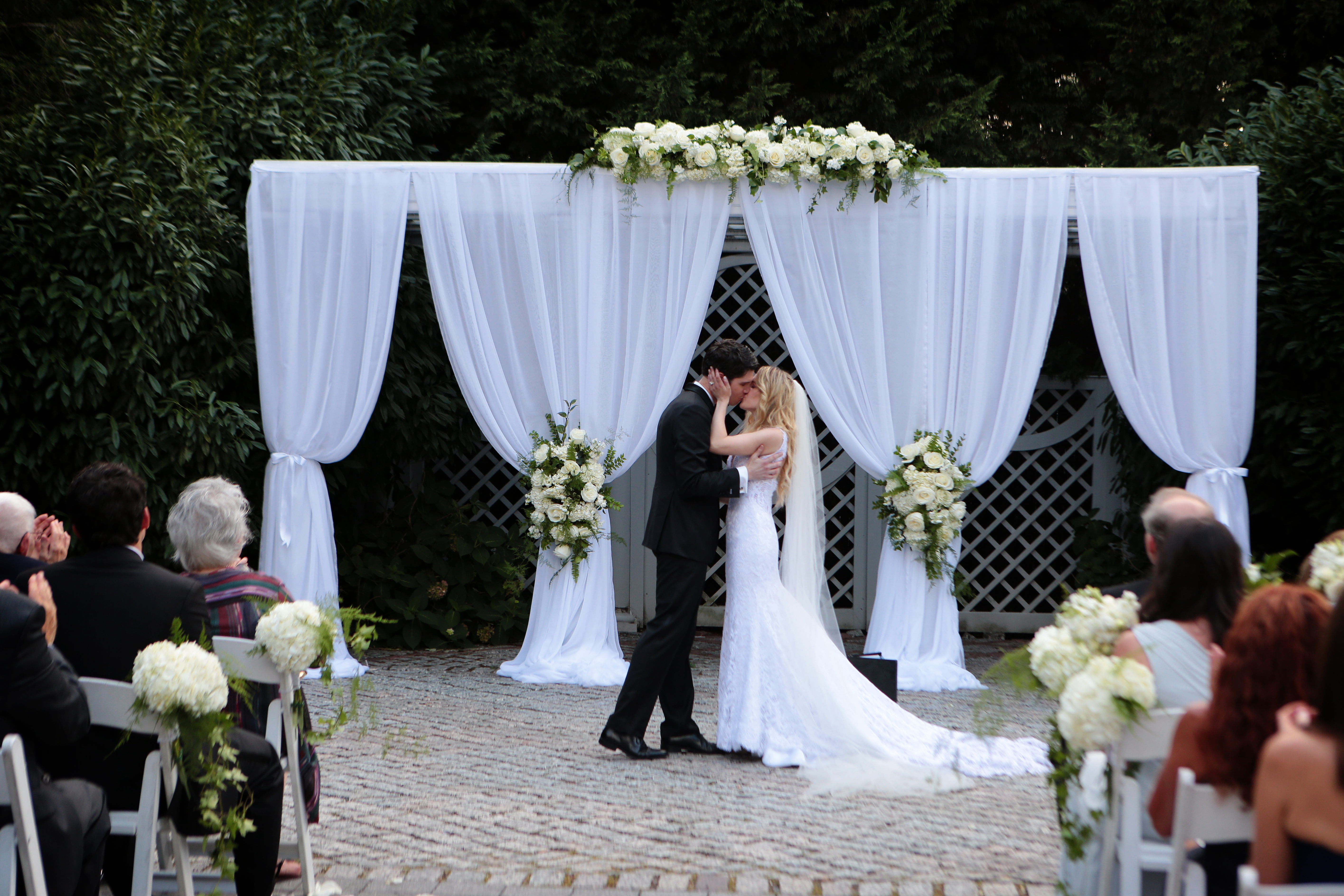 A classic garden ceremony for our bride and groom at The New York Botanical Gardens. Read the blog for all the details and romantic pictures!
