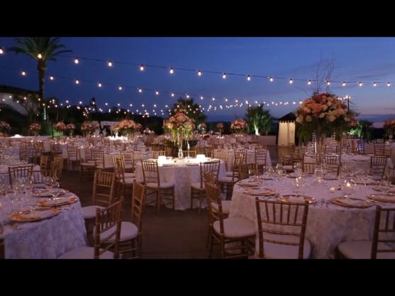 Outdoor wedding ceremony location